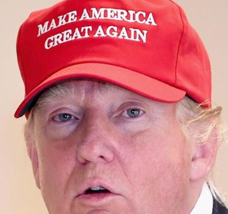It was the message on the hat, not necessarily the guy wearing it.