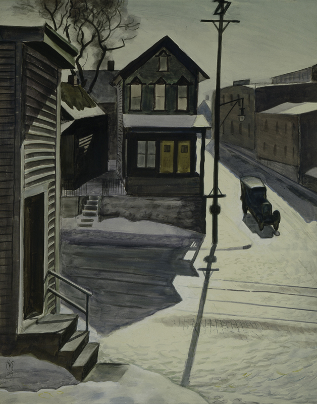 Ice Glare, 1933. (Charles E. Burchfield Archives)