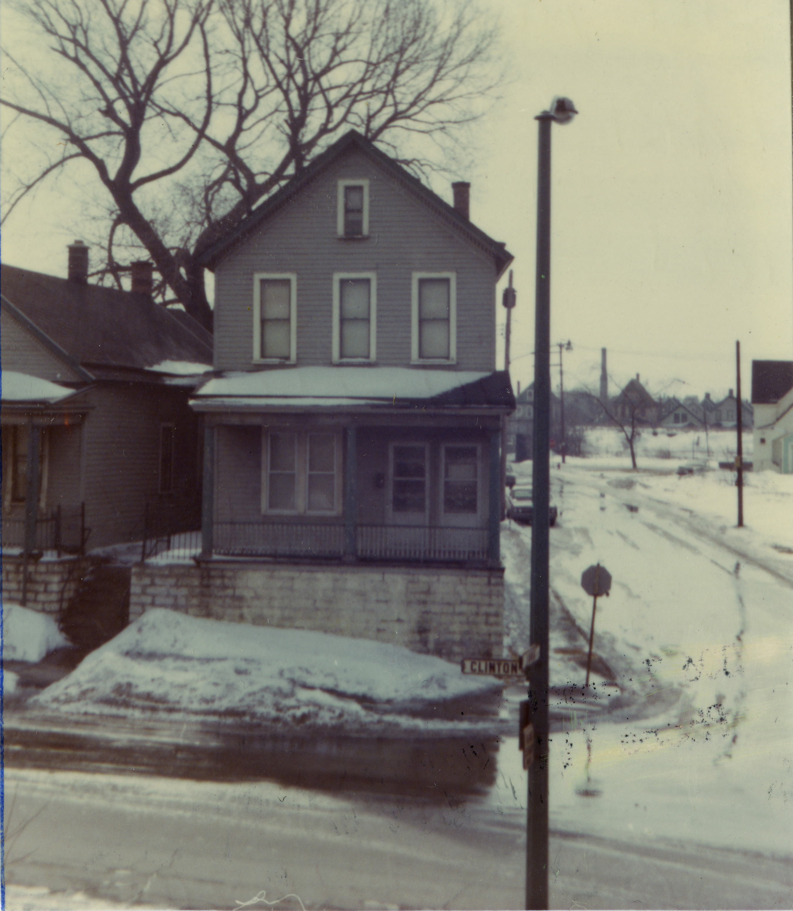 House depicted in Ice Glare, as photographed by James Vullo (Charles E. Burchfield Archives/James J. Vullo photo)