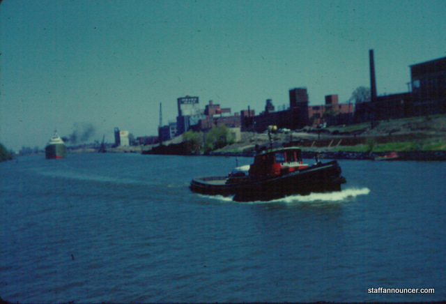 Black Rock shoreline tug boat